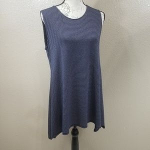 Soft Surroundings Blue and Gold Tank Top Size M